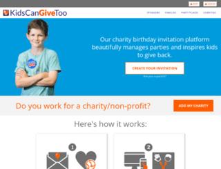 kidscangivetoo.com screenshot