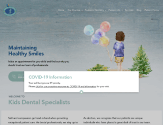 kidsdentalspecialists.com screenshot