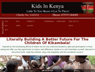 kidsinkenya.co.uk screenshot