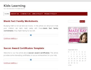 kidslearning.xyz screenshot