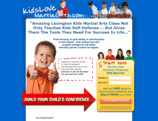 kidslovemartialartslexingtonsc.com screenshot