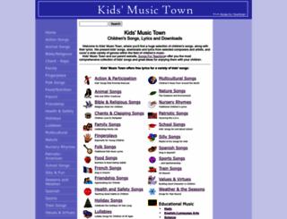 kidsmusictown.com screenshot