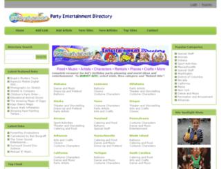 kidspartyworld.com screenshot