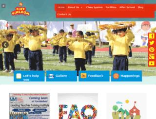 kidzkingdomschool.com screenshot