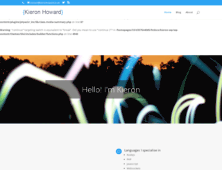 kieronhoward.co.uk screenshot