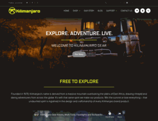 kilimanjarogear.com screenshot