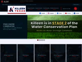 killeentexas.gov screenshot