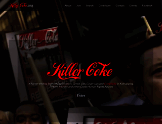 killercoke.org screenshot