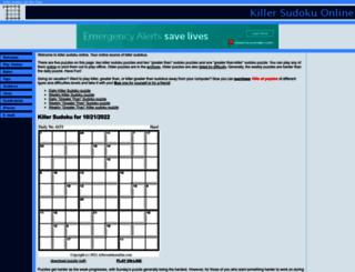 killersudokuonline.com screenshot
