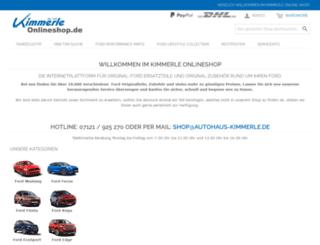 kimmerle-onlineshop.de screenshot