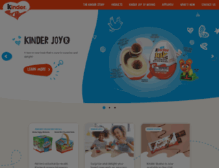 kinder.com screenshot