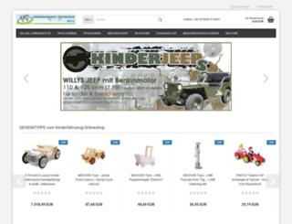 kinderfahrzeug-onlineshop.de screenshot