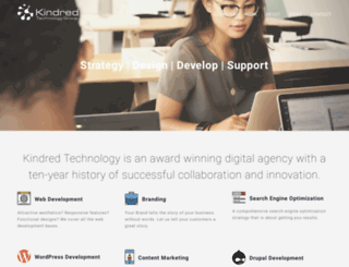 kindredtechnology.com screenshot