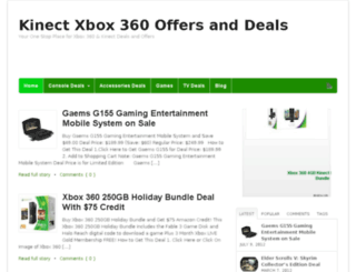 kinectxbox360offers.net screenshot