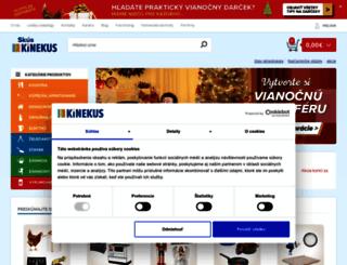 kinekus.sk screenshot