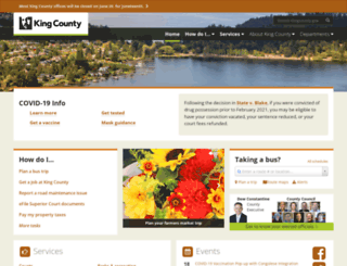 kingcounty.gov screenshot