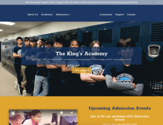 kingsacademy.com screenshot