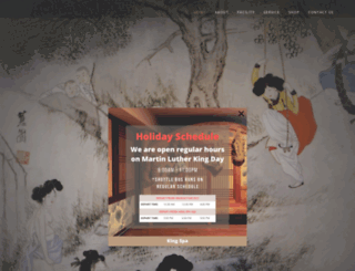 kingsaunanj.com screenshot