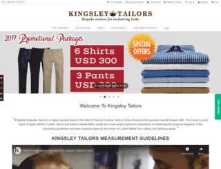 kingsleytailors.com screenshot
