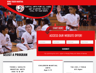 kingtigermartialarts.com screenshot