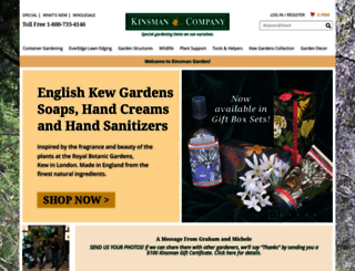 Kinsmangarden.com Screenshot