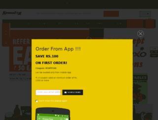 kiranafirst.com screenshot