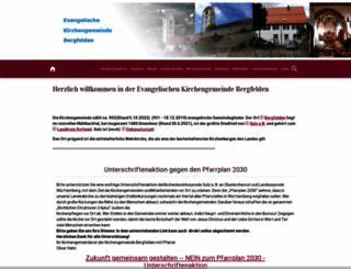 kirche-bergfelden.de screenshot