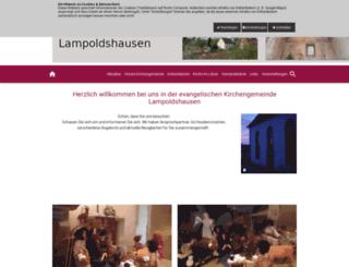 kirche-lampoldshausen.de screenshot