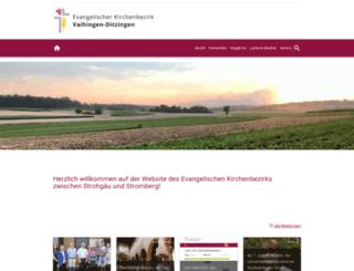 kirchenbezirk-vaihingen.de screenshot
