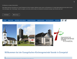kirchengemeinde-voerde.de screenshot