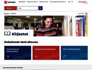 kirjasto.tampere.fi screenshot