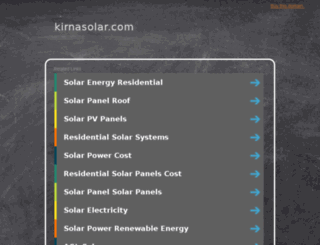 kirnasolar.com screenshot