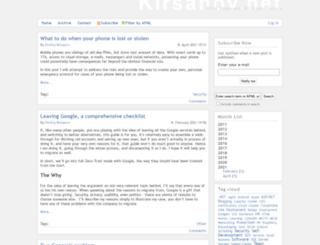 kirsanov.net screenshot