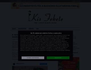kisfekete.cafeblog.hu screenshot
