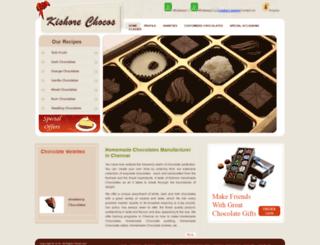 kishorechocos.com screenshot