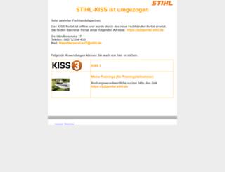kiss-marketing.stihl.de screenshot