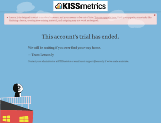 kissmetrics.lesson.ly screenshot