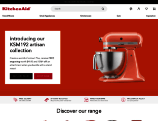 kitchenaid.com.au screenshot