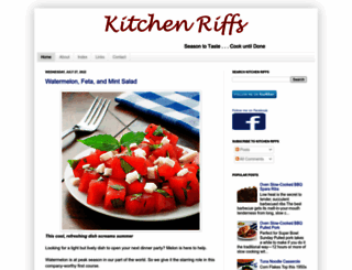 kitchenriffs.com screenshot