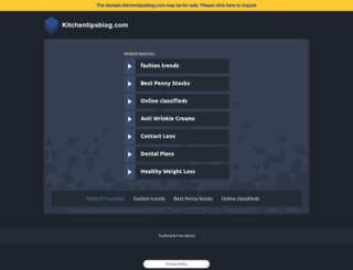 kitchentipsblog.com screenshot