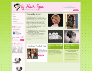 kjhairspa.com screenshot