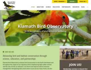 klamathbird.org screenshot