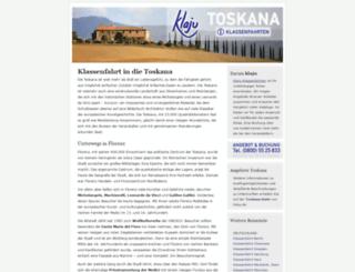 klassenfahrt-in-die-toskana.de screenshot