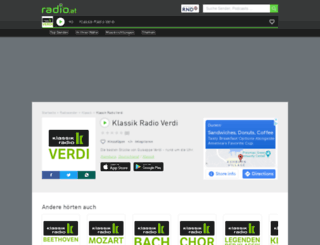 klassikradiopureverdi.radio.at screenshot