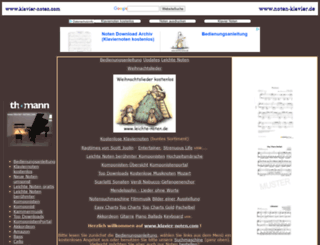 klavier-noten.com screenshot