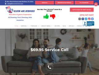 kleenairservices.com screenshot