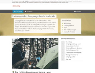 kleincamp.de screenshot