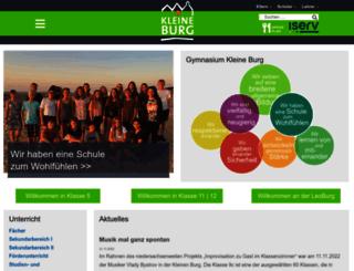 kleineburg.de screenshot