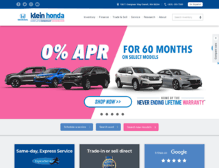 kleinhonda.com screenshot