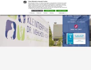 kleintierpraxis-bielefeld.de screenshot
